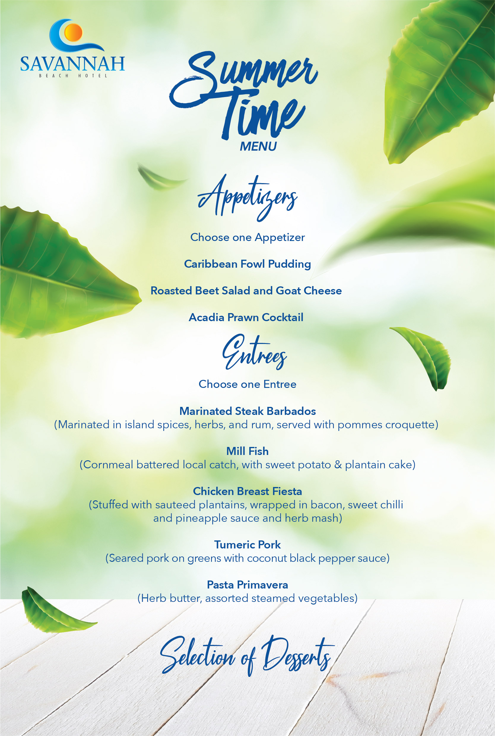 2019 SAV SUMMER TIME DINNER Menu For Website